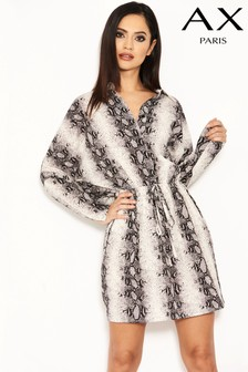 AX Paris Snake Print Batwing Dress