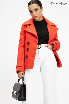 Miss Selfridge Short Pea Coat