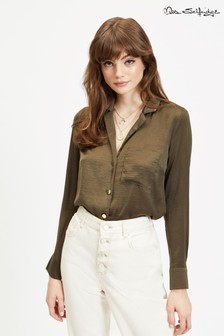 Miss Selfridge Collar Revere Satin Utility Shirt
