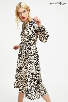 Miss Selfridge Zebra Midi Dress