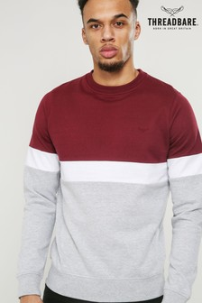 Threadbare Block Stripe Sweat Top