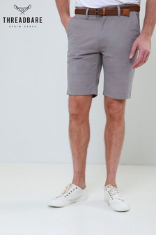 Threadbare Belted Chino Style Shorts