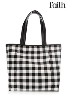 Faith Gingham Soft Shopper Bag