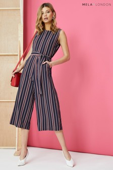 Mela London Nautical Stripe Culotte Jumpsuit