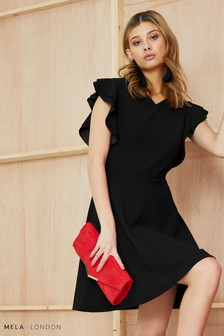Mela London Ruffle Skater Dress