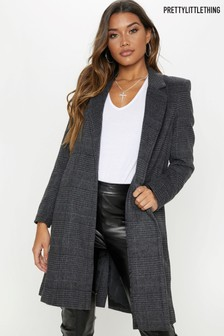 PrettyLittleThing Check Coat