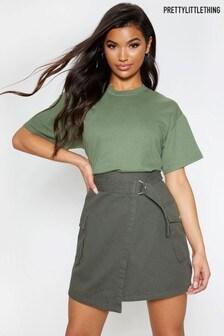 PrettyLittleThing Cargo Pocket Wrap Skirt