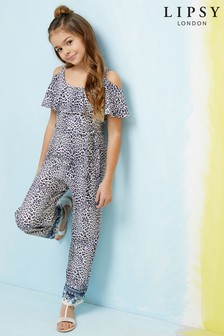 Lipsy Girl Leopard Paisley Jumpsuit