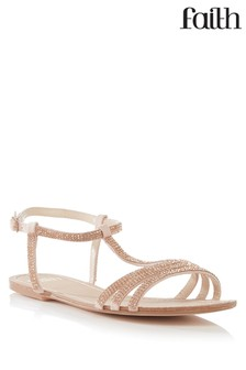 Faith T-Bar Diamanté Sandals