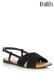 Faith Crossover Flat Casual Sandals
