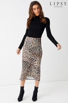 Lipsy Mixed Animal Print Skirt