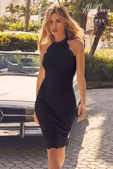 Abbey Clancy x Lipsy Petite Halterneck Scallop Dress