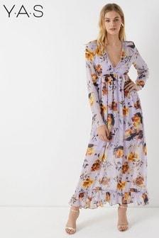 Vestido largo con estampado floral de Y.A.S