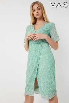 Y.A.S Sequined Wrap Dress