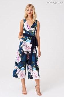 Paper Dolls Floral Culotte Jumpsuit
