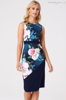 Paper Dolls Floral Pencil Dress