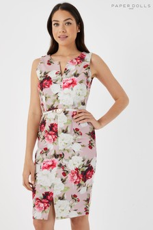 Paper Dolls Barclay Floral Pencil Dress