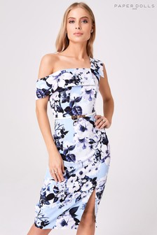 Paper Dolls Mews Floral Midi Pencil Dress
