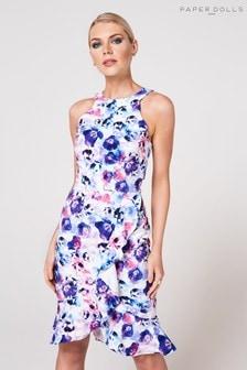 Paper Dolls Floral Print Dress