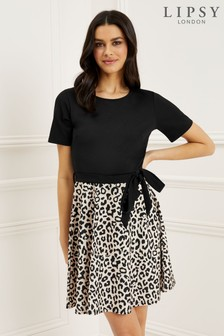 1ccb923f38 Lipsy Animal Print Skater Dress