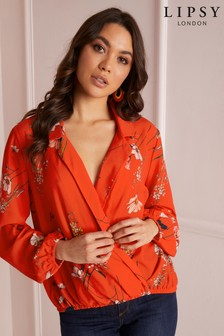 Lipsy Floral Wrap Top