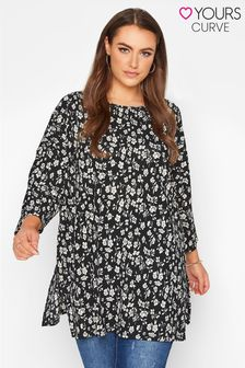 Yours Floral 3/4 Sleeve Tunic
