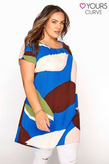 Yours Pleat Neck Shift Tunic