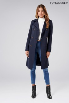 Forever New Long Textured Trench