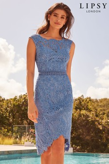 21a455149631 Lace Dresses | Lace Bardot & Wrap Dresses | Next UK