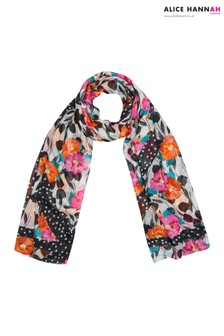 Alice Hannah Mixed Floral Spot Scarf