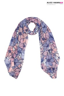 Alice Hannah Oversized Abstract Floral Scarf