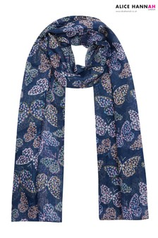 Alice Hannah Ditsy Floral Butterfly Scarf