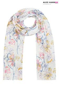Alice Hannah Abstract Brushstroke Scarf