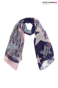 Alice Hannah Sliced Zebra Star Scarf