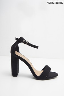PrettyLittleThing Block Heel Barely There Sandals