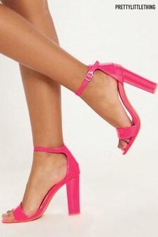 PrettyLittleThing Neon Block Heeled Sandals