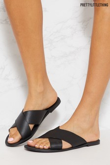 PrettyLittleThing Cross Strap Sandal