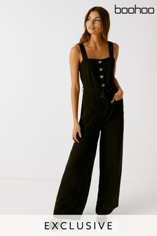 ee2a29f0ef7 Boohoo Culotte Belted Jumpsuit