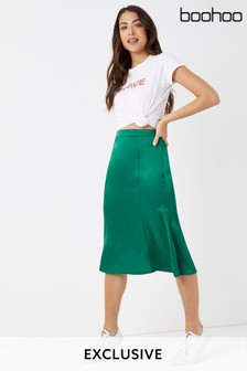 Boohoo Fit And Flare Skirt