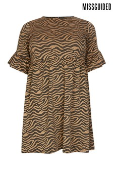 Missguided Curve Animal Print Dress