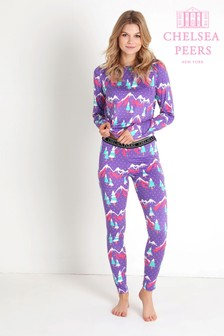 Chelsea Peers Snowy Mountain Thermal Bottoms