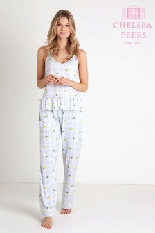 Chelsea Peers Gingham Lemon Pyjama Set