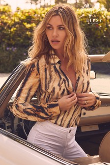 Abbey Clancy x Lipsy Animal Shirt