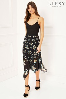 bd292d5829 Lipsy Mix and Match Floral Print Midi Skirt