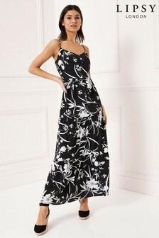 Lipsy gelaagde lange jurk