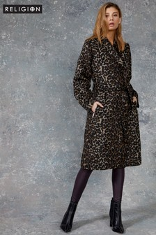 Religion Animal Print Coat