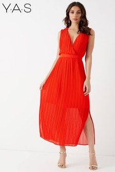 Y.A.S Plissé Maxi Dress