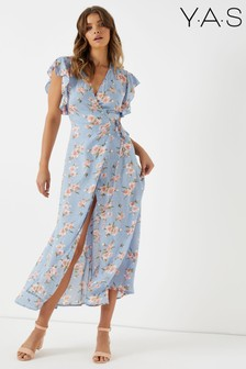 Y.A.S Floral Textured Maxi Dress