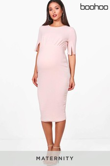 Boohoo Maternity Split Sleeve Wiggle Dress