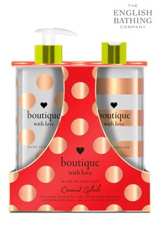 The English Bathing Company, Boutique With Love Hand & Body Wash Duo - Coconut Splash